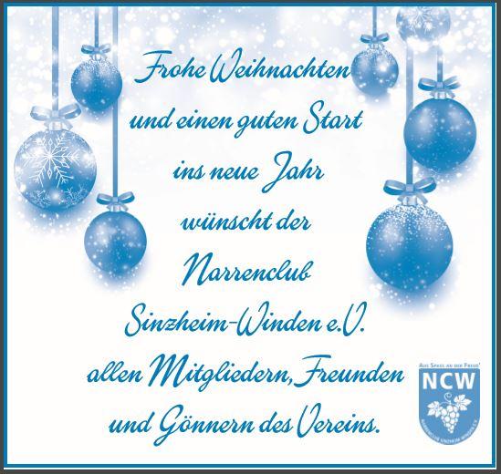 Weihnachtsgrüße Für Putzfrau.Aktuelles Narrenclub Sinzheim Winden E V